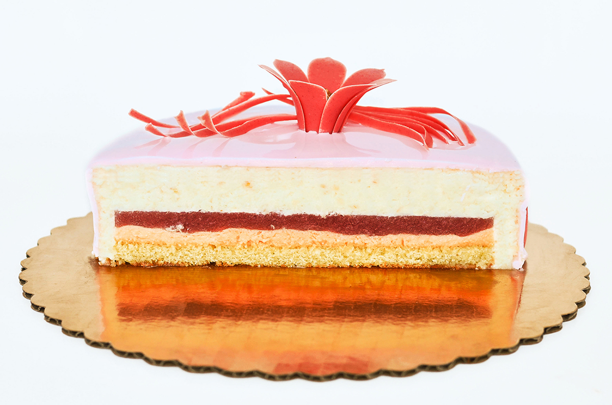 Strawberry Lychee and Rose entremet