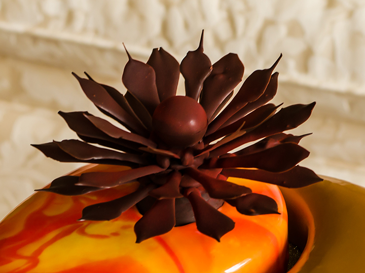 Chocolate flower handmade